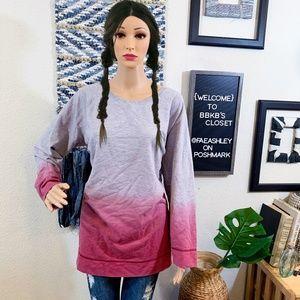Woman Within Ombre Sweatshirt